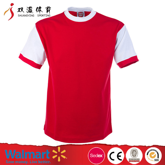 custom cheap soccer uniform designs woman soccer,round neck red white big size soccer jerseys/football tracksuit