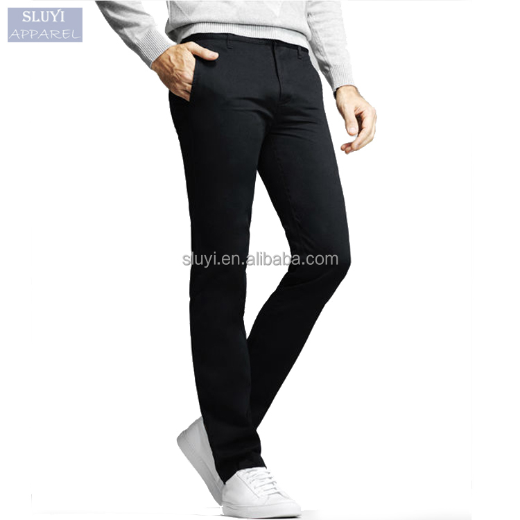 Men Social Suit pants black blue Khaki colors man trousers Slim high Quality Cotton Casual Modern long Pantalones Hombre
