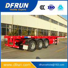 Good price skeletal or flatbed trailer container twist lock / skeleton or platform semi trailer container