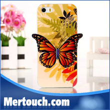 for iphone 5 case tpu back cover butterfly design nice cover case for iphone 5