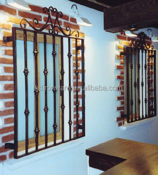 Decorative Wrought Iron Window Security Metal Grilles