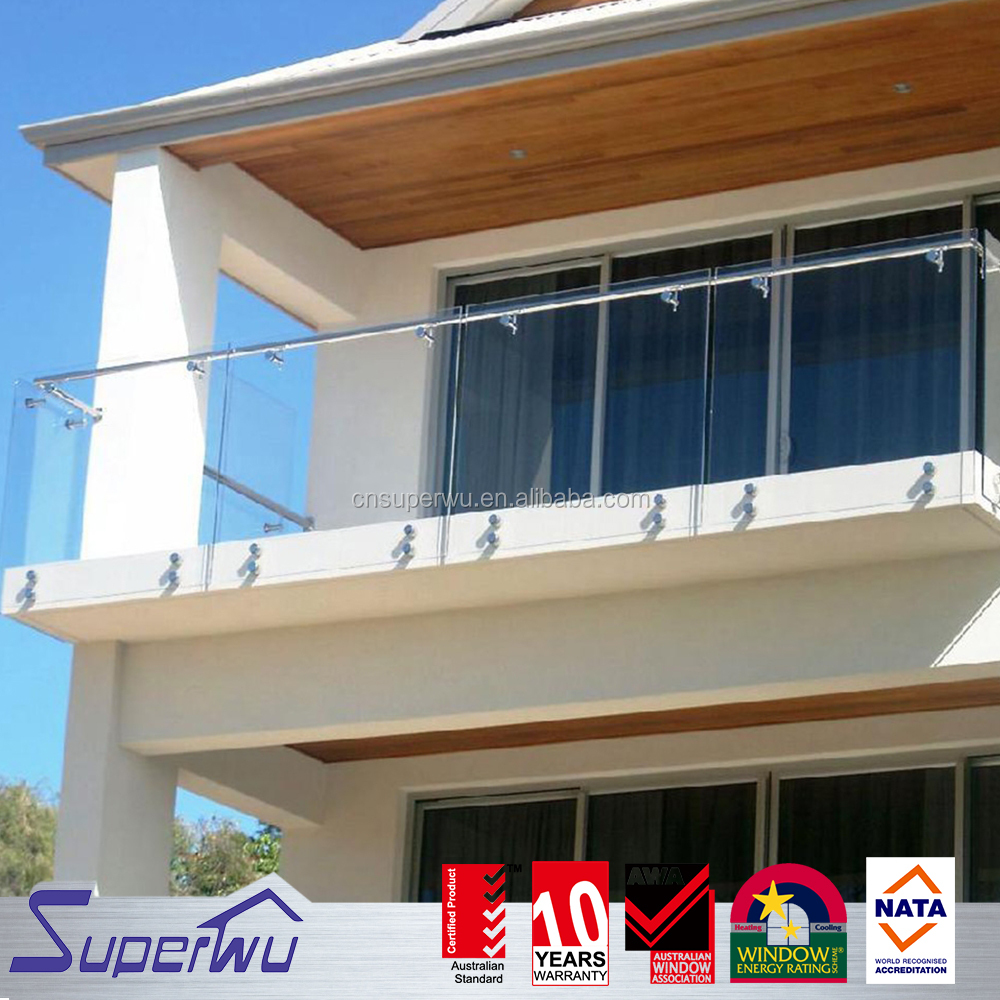 Australian standard House balcony stainless steel glass railing