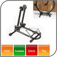 Aluminum bike tire holder L shape foldable bicycle repair stand steel rack bike parking rack and frame for home use