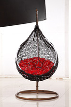 Swing Chair, Egg Chair, Rattan Hanging Chair with Stand