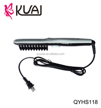KUAI hot items 2017 new years products with comb with removable comb flat iron hair straightener with teeth