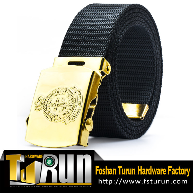 Custom Navy Black Malaysia Naval Officer Belt