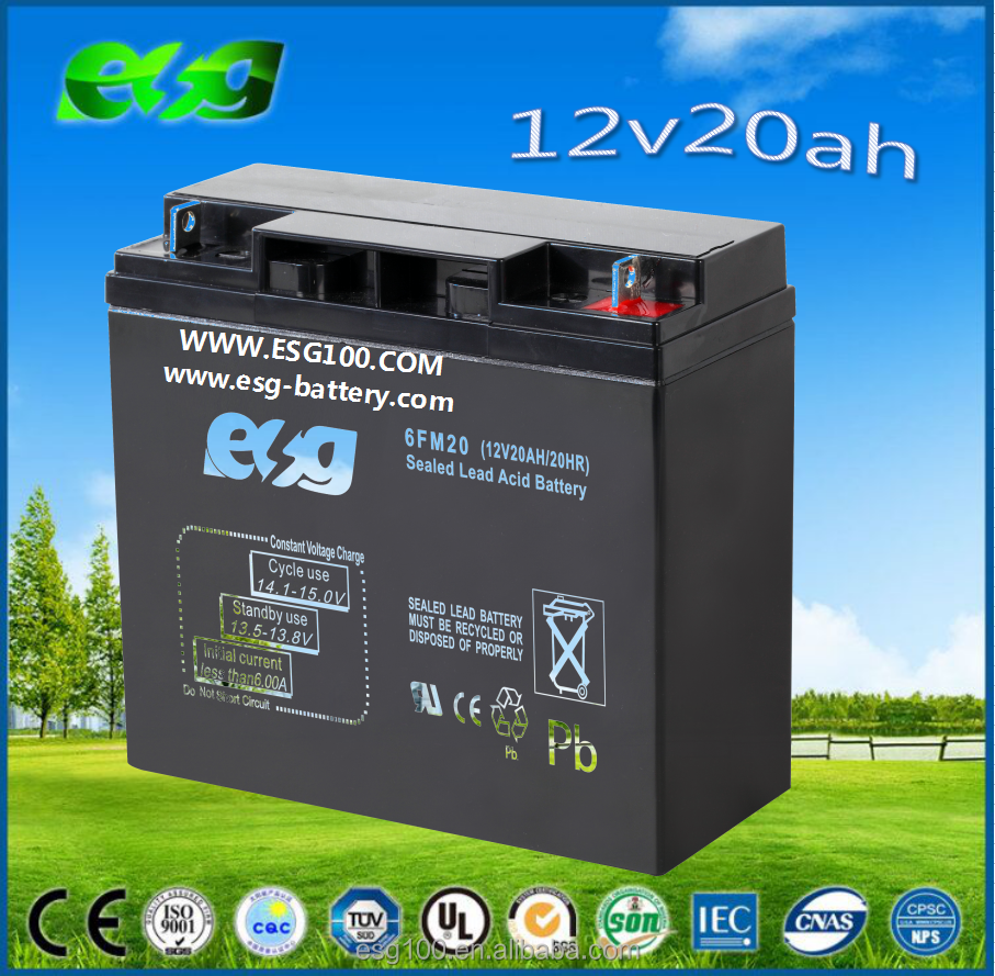 Free Maintenance Type battery for electric bike 12v 20ah 6-DZM-20 Battery