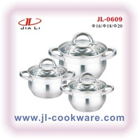 6Pcs Stainless Steel Casserole set appliances for kitchen