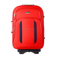 model 8864 latest 20 inch custom print logo handle dark built-in all black lining red trolley bag