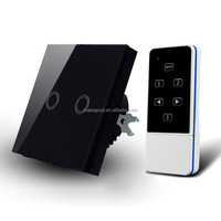 EU standard Smart Home 2 gang led touch light switch