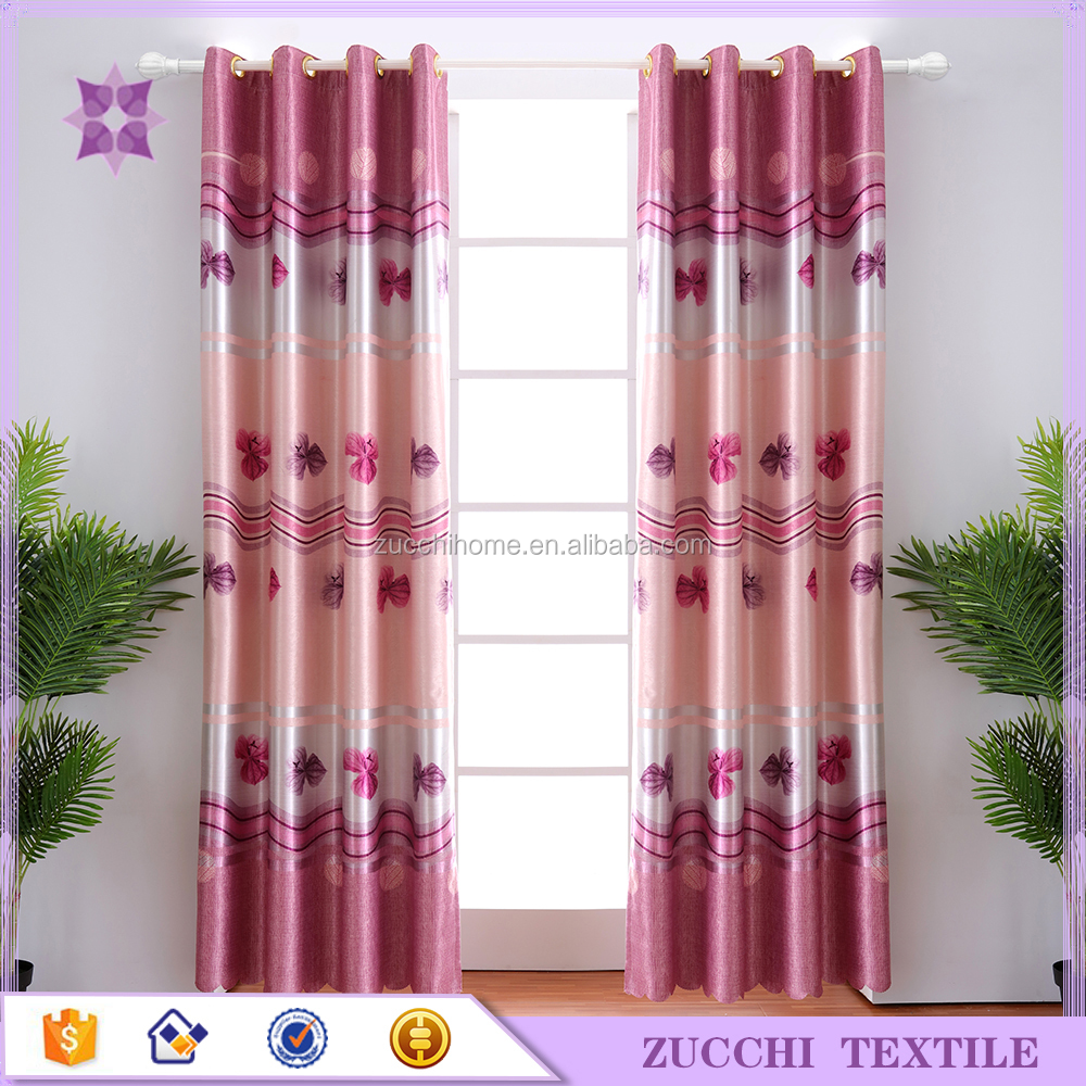 Flower Pink Window Curtains for Living Room Bedroom Kitchen Luxury Curtains Kids Ready Made Voile Tulle Curtains for Bedroom