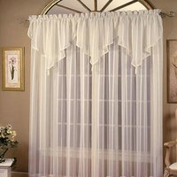 Best sell veil lace fabric curtain
