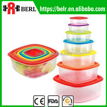 Round Clear Plastic Food Covers Disposable Container with Lid