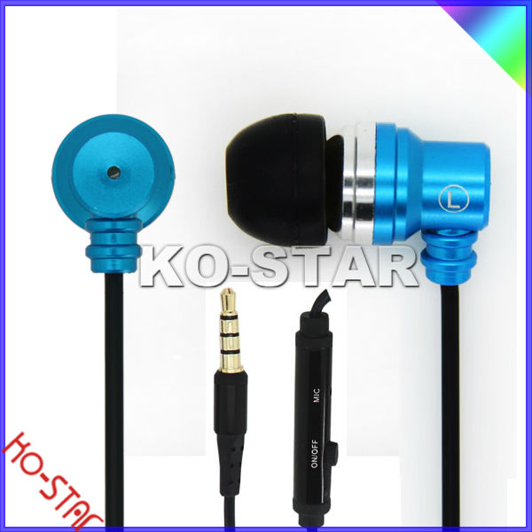 New METAL EARPHONE and Headhone for Apple Earphones with Mic(KEM-901)