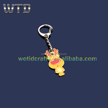 New fashion gifts gold plat metal deer key chain Wk 908
