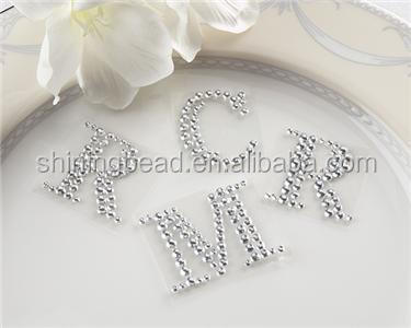 Colorful flower shape self-adhesive rhinestone sticker