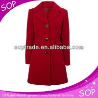 China maxi fancy ladies long coats manufacture