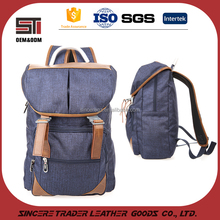New arrival bag man modern custom made soft fabric backpack with padded shoulder strap 16SC-4815D