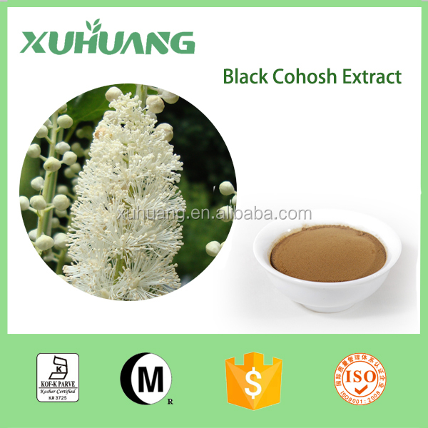 2016 XUHUANG Hot selling Factory Supply Black Cohosh Extract,Triterpenoid saponis