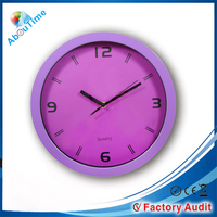 high quality goods round led wrought plastic wall clocks