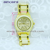 luxury women gold watch,3atm water resistant stainless steel watch case