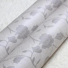 Home Hotel Wall Decoration Self Adhesive PVC Vinyl Flower Embossed Design Wallpaper Decorative Elegant Flower Pattern Wall Paper