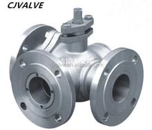 good quality high pressure flanged stainless steel 3 way ball valve