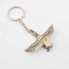 Zinc Alloy Die Cast 3D Egypt Winged Goddess Metal Keychain