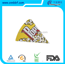 wholesale food paper Triangle popcorn boxes paper packing boxes