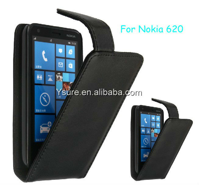 2013 New Flip Leather Case For Nokia Lumia 620