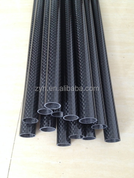 high quality carbon fiber colored tube in aliba ba china