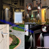 Solar Powered Motion Sensor Light Outdoor Garden Security Gutter Spot LED Flood Light