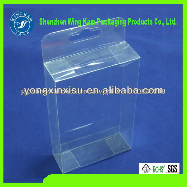 Clear acetate plastic folding packaging Box