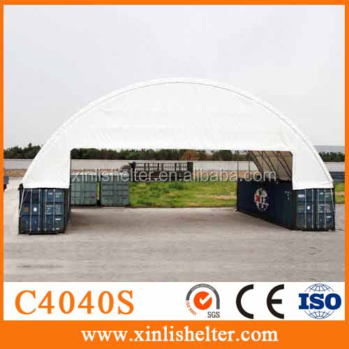 China PVC 40ft Container Tent With two ends