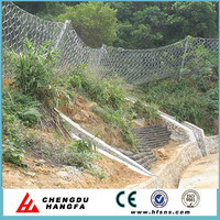 Slope protection wire mesh ring net drapery for channel maitainance