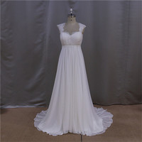 china guangzhou hot sale backless long chiffon wedding gown 2014
