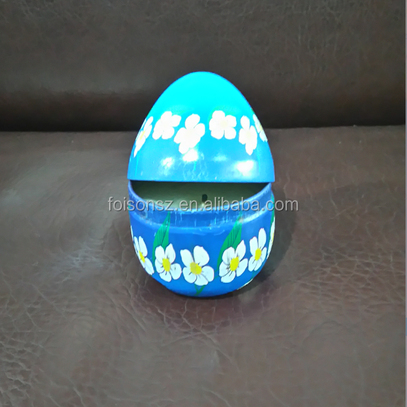 Custom made egg new products easter egg box tin box for gift
