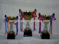 Fashion Metal Trophy Components With Stone Base