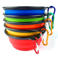 Eco-Friendly Custom Durable Folding Silicone Dog Bowl With Hook