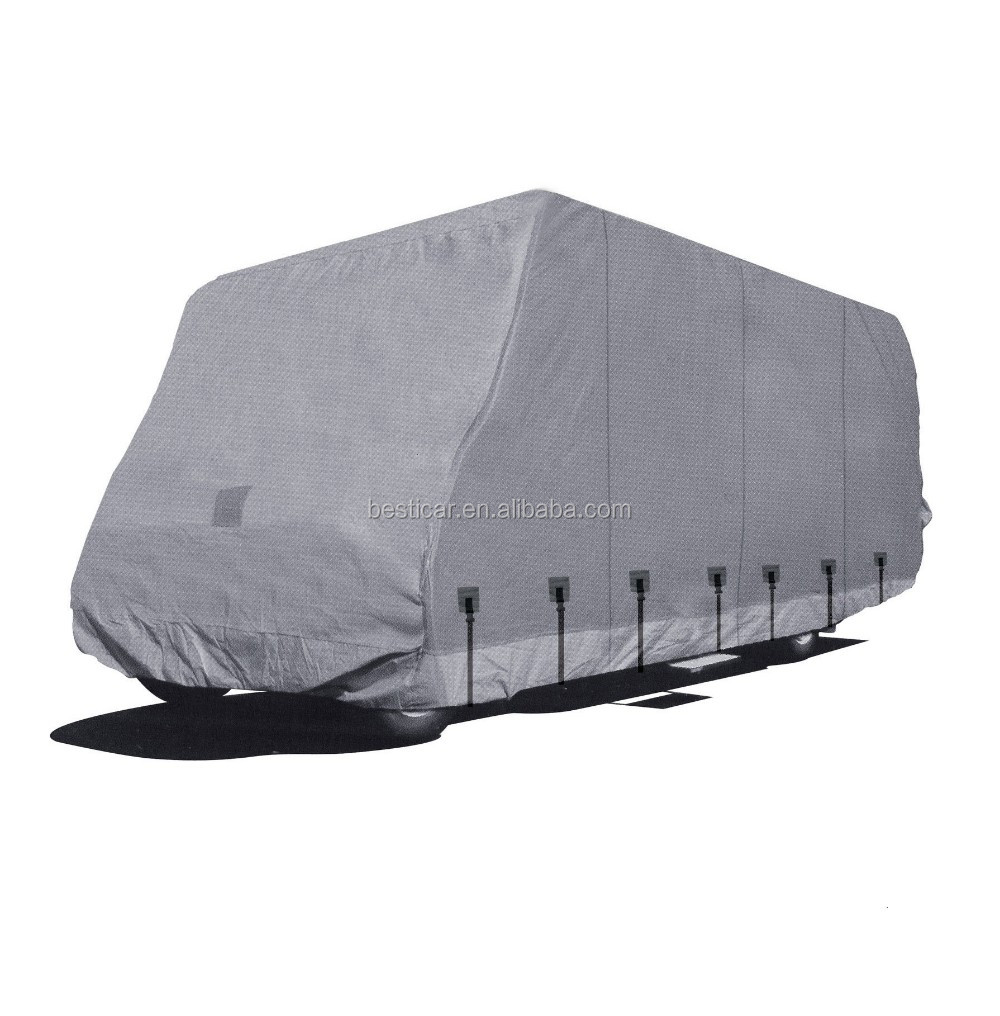 RV Accessories Four Layer Non-woven with Tyvek Top Breathable Waterproof Caravan Cover