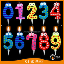 Factory 2017 hot selling 123456789 candle figure birthday wax candle
