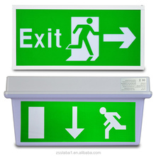 Zhongshan 0.5W chargeable led photoluminescen emergency exit sign