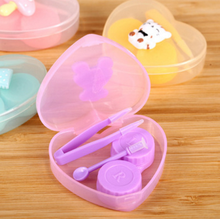 Wholesale Stock New Arrivals Lovely Cartoon Heart Shaped Contact Lens Case