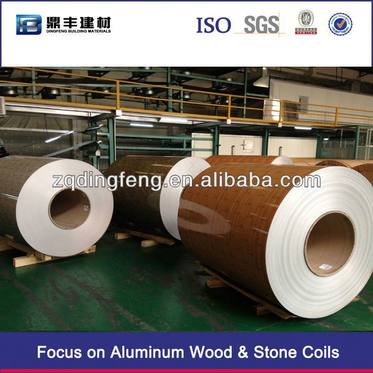 Good quality aluminum coil shandong manufacture -Dingfeng wood grain aluminum coil Factory