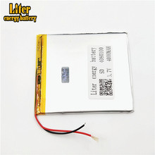 3.7V 4000mAh 4080100 Polymer Lithium Li-Po Rechargeable <strong>Battery</strong> For MP5 GPS DVD E-book Tablet PC video game