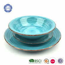 Hot sale cheap mordern hand painted stoneware hotel restaurant tableware crockery items