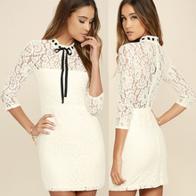 Women fitted sheath design ladies new model dress & ladies fashion lace dresses