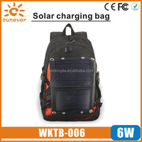 6W portable Solar power charger bag for mobile devices