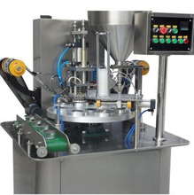 Rotary yogurt cup filling sealing machine with date printer