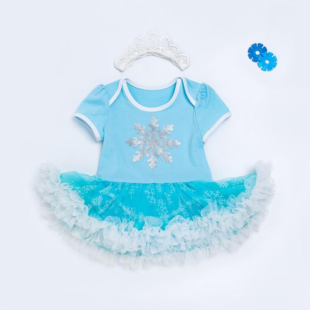 Infant Toddlers Newborn Baby Girls Clothes Frozen Elsa Short Sleeve Tutu Clothing Romper